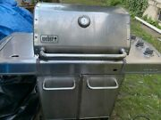Used 2012 Weber Genesis S-320 Propane Gas Grill, Stainless Steel
