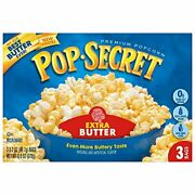 Pop Secret Microwavable Popcorn Extra Butter Flavor 3-count Boxes Pack Of 6