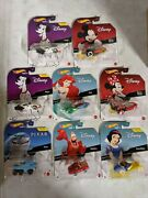 Hot Wheels Disney Character Cars Complete Case Of 8 - 2021 New Wave