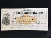 U.s Used Ck Rnc13 L.h. Hershfield And Bro Helena Mt 1872 Payable In Gold Rare