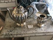 Sterling Silver Coffee Pot And Sugar Bowl