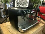 Iberital Expression 2 Group Matte Black Espresso Coffee Machine Commercial Cafe