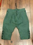 Green French And Indian Fandi War Button Fly Breeches For Rogers Rangers Handmade