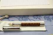 Graf Von Faber Castell Limited Edition Classic Snakewood Fountain Pen Ef New