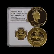 Canada. 3 Cents, 2001, Silver - Ngc Pf69 - First Postage Stamp