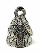 Celtic Cross Motorcycle Biker Bell Accessory Or Key Chain For Luck