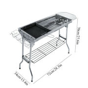 Stainless Steel Folding Barbecue Grill Bbq Stove Charcoal Grill Household