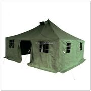 Large 11 Men Army Base Camp Military Tent 5x5m - 100 Polycanvas - Factory New