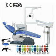 6 Model Dental Unit Chair Computer Controlled Hard Leather Andstool /folding Chair