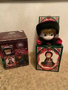 Precious Moments Christmas Musical Wind Up Jack In The Box Doll Enesco 1991