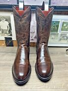 Lucchese 1883 Madras Goat 10d Roper Mens Cowboy Boots Excellent Condition