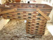 Longaberger Signature Plaid Step It Up Stair Basket With Protector