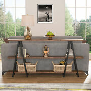 Industrial Chic Style Sofa Console Table For Living Room Hallway Entryway Table