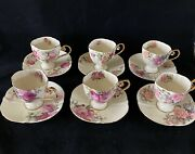 6 Cup And Saucer Of Ancienne Fabrique Royale Limoges