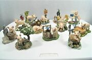 Lot Of 12 Hamilton Farm Livinand039 Collection Pig Figurines Collectibles