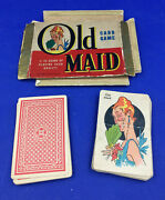 Vintage Whitman Old Maid Cards 1940andrsquos Andndash Incomplete 41 Cards
