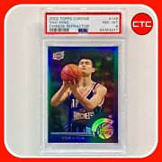 2002 Topps Chrome Refractor Yao Ming Chinese Rookie Card Rc 146 Psa 8 Pop 9
