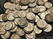 Roosevelt Dimes 2 Rolls. 100 Coins. 10 Face Value. Many Nicely Toned.90 Silver