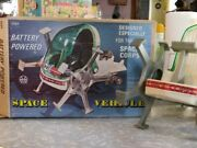 Vintage 1960s Marx Toys Battery Powered Walker Space Vehicle In Original Box