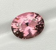 Natural Untreated Pink Tourmaline 7.04 Cts Congo Oval Cut Loose Gemstone