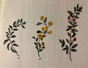 New Leaf And Flower -la Stencilworks Set Of 3 Different Flowers -wall Decor