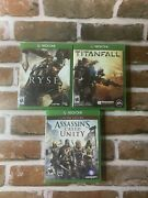 Xbox One 3 Game Lot Ryse Son Of Rome Titanfall Assassinandrsquos Creed Unity