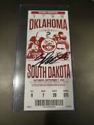 Spencer Rattler Autographed Debut Ticket 1st College Game Ncaa Oklahoma Tristar