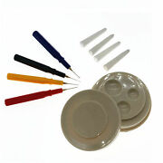 4 Pcs Oiler Pen Needle With Oil Cup Watch Clock Repair Tool Kit For Watchmakers