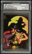 1994 Jim Steranko Topps The Shadow L4 Signed Trading Card Psa/dna