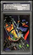1994 Jim Steranko Topps The Shadow Signed L6 Trading Card Psa/dna Slabbed