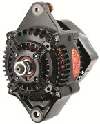 Powermaster 8132 Denso Racing Alternator With One Wire In Black - 95 Amp 12 V