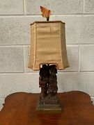 Chinese Soapstone Table Lamp
