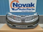No Shipping Front Bumper Satin Grille Bars Without Park Lamps Fits 16-18 Mkx 9