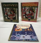 Lof Of 3 A Little Golden Book - The Night Before Christmas - 1949 1975 2001