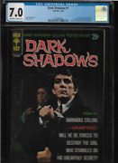 1969 Rare 1st Issue Dark Shadows  Comic Book Cgc 7 Graded W/poster Attached