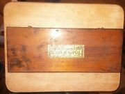 Antique Little Giant No.1 Tap And Die Set Sae Original Wood Box Greenfield Ma.