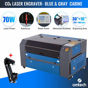 Omtech 70w 16x30 In. Co2 Laser Engraver Machine With Autofocus And Rotary Axis C