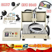 4axis Cnc 3040 Router 3d Engraver Pcb Metal Milling Engraving Machine 800w+rc