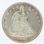 1860-o Seated Liberty Half Dollar Au About Uncirculated Jo/1310