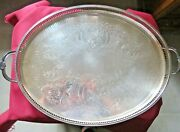 Cavalier Large Plate Service Metal Silver Engraved