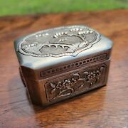 Very Nice Chinese Repoussandeacute And Hand Chased Sterling Silver Trinket Box