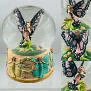 """Simson Giftware Fairy """"butterfly Of Dreams"""" Musical Snow Globe"""