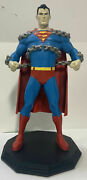 Superman 2000's Statue Figure Dc Comics Blue And Red Plastic 25 Inch