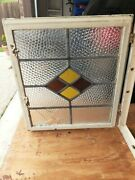 Antique English Metal Casement Stained Glass Window