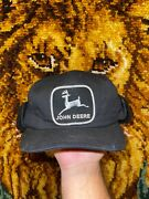 Vtg John Deere K Products Fitted Patch Hat Size 6 7/8-7 1/2