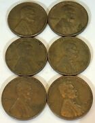 Us Lincoln Wheat Penny Lot - 1950, 1951, 1952, 1953, 1956, 1957