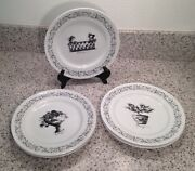Liz Ross The Monkey And The Peddler Villa 8 1/4 Luncheon Plates Set Of 5