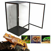 Black Large Reptile Pet Enclosure Cage Lizard Spider Insect Snake Mesh Screen Us