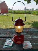 Vintage 1972 Coleman 200a Lantern W/ Original Box And Owners Manual