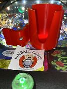 Pinball Machine Drink/cup/pop/soda/beverage Holder All Side Mountable - Red